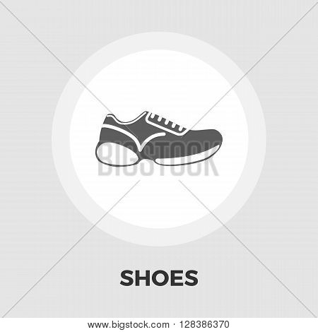 Shoes icon vector. Flat icon isolated on the white background. Editable EPS file. Vector illustration.