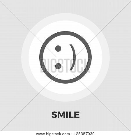 Smile icon vector. Flat icon isolated on the white background. Editable EPS file. Vector illustration.