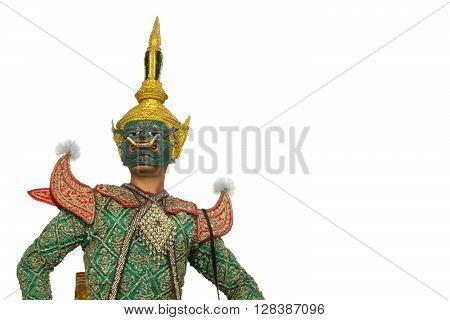 Pipek; one character of Thai traditional dance of the Ramayana Epic Saga.