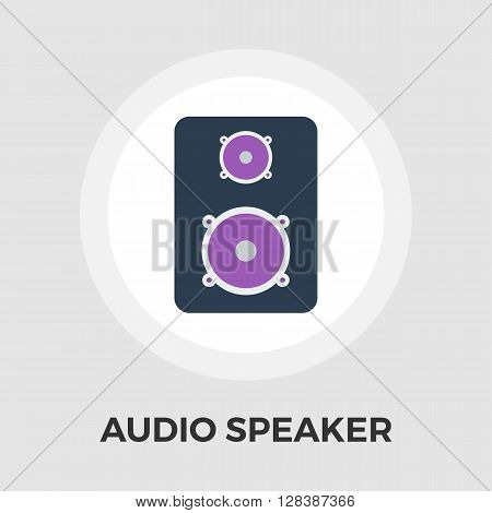 Speakers icon vector. Flat icon isolated on the white background. Editable EPS file. Vector illustration.