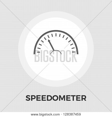 Speedometer icon vector. Flat icon isolated on the white background. Editable EPS file. Vector illustration.