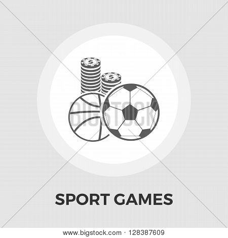 Sport games icon vector. Flat icon isolated on the white background. Editable EPS file. Vector illustration.