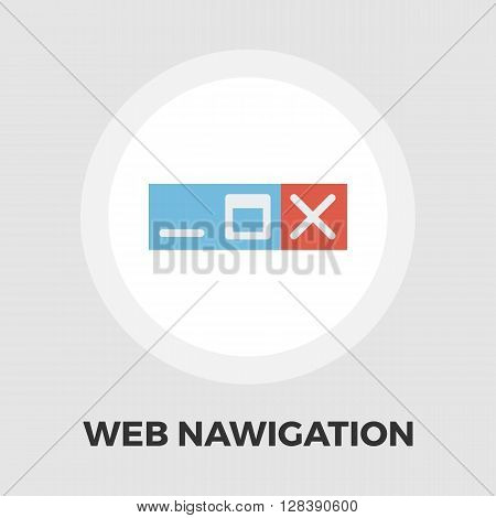 Web navigation icon vector. Flat icon isolated on the white background. Editable EPS file. Vector illustration.