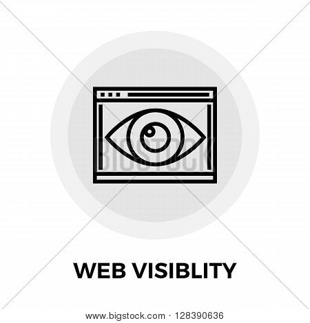 Web Visiblity icon vector. Flat icon isolated on the white background. Editable EPS file. Vector illustration.