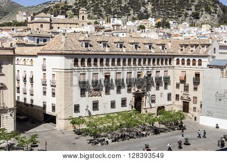 Jaen - Spain, may 2016, 2: The episcopal head office of Jaen, The Episcopal Palace is constructed on a building of the XVth century reformed in the year 1980, take in Jaen, Spain