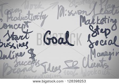 Hand Written Text Different Business Word Concept