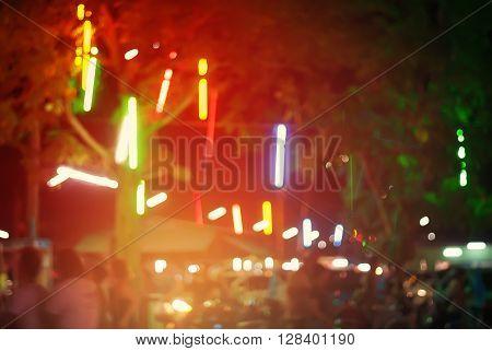 Shining Sticks Night Decor Street Background