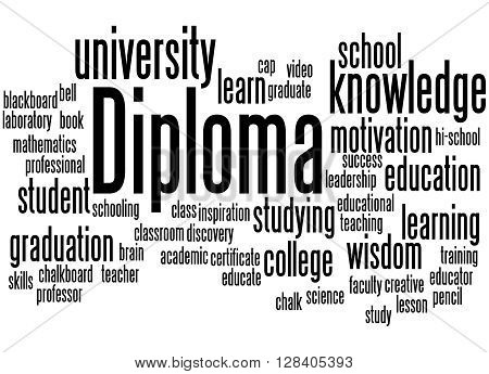 Diploma, Word Cloud Concept 6