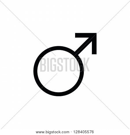 Sign men icon male gender. Vector male Sign