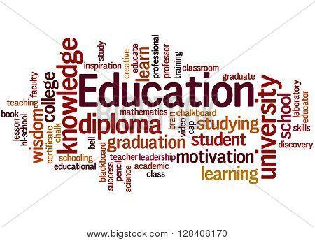 Education, Word Cloud Concept 3