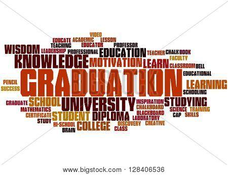 Graduation, Word Cloud Concept