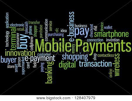 Mobile Payments, Word Cloud Concept 2