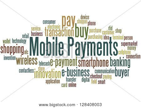 Mobile Payments, Word Cloud Concept 3