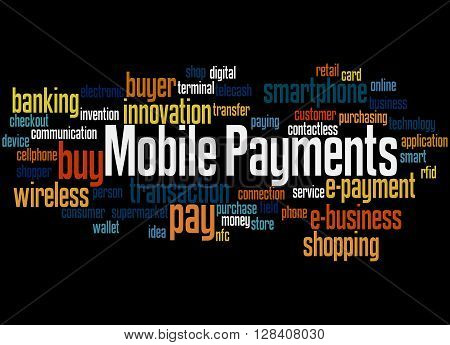 Mobile Payments, Word Cloud Concept 4