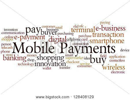 Mobile Payments, Word Cloud Concept 9