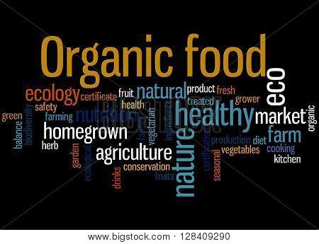 Organic Food, Word Cloud Concept 2