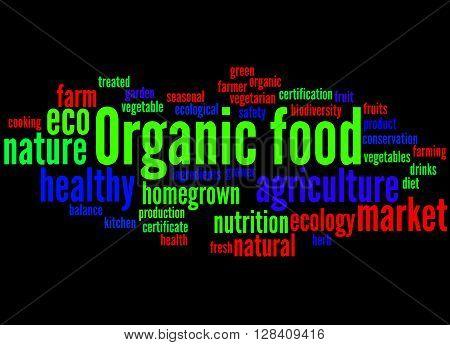 Organic Food, Word Cloud Concept 6