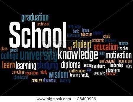 School, Word Cloud Concept 4