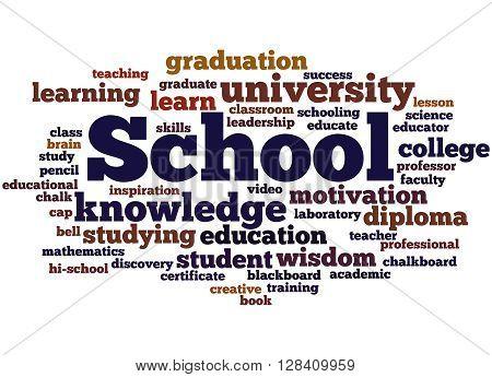 School, Word Cloud Concept 5