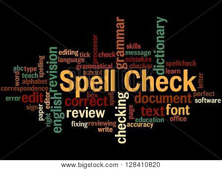 Spell Check, Word Cloud Concept 7