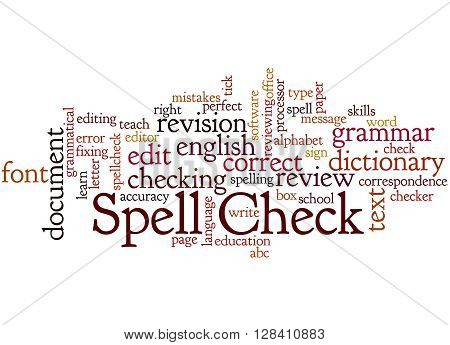 Spell Check, Word Cloud Concept 9