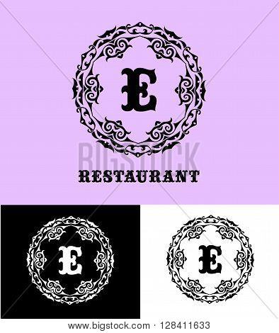 Monogram logo template vector photo bigstock monogram logo template with calligraphic elegant ornament identity design with e letter for shop thecheapjerseys Gallery