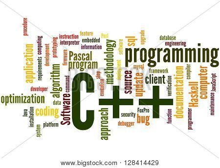 C++ Programming, Word Cloud Concept 5