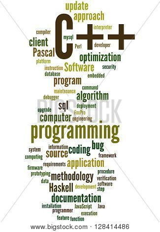 C++ Programming, Word Cloud Concept 7