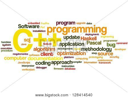 C++ Programming, Word Cloud Concept 8