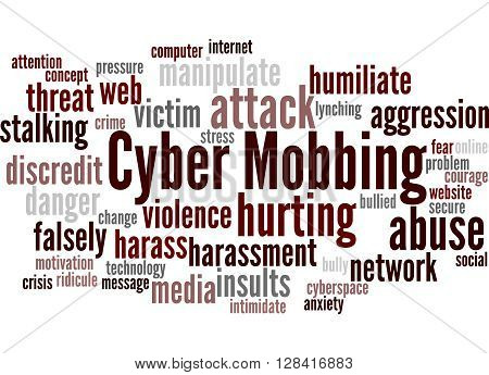 Cyber Mobbing, Word Cloud Concept 9