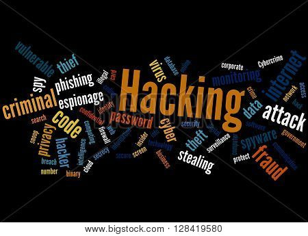 Hacking, Word Cloud Concept 9