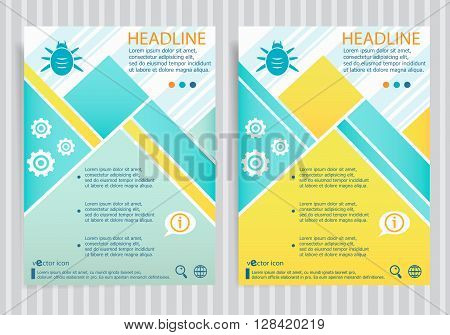 Bug  Symbol On Vector Brochure Flyer Design Layout Template