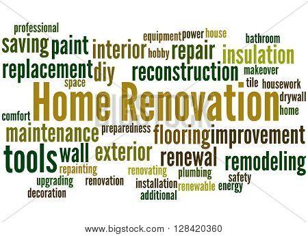 Home Renovation, Word Cloud Concept 7