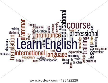 Learn English, Word Cloud Concept 5
