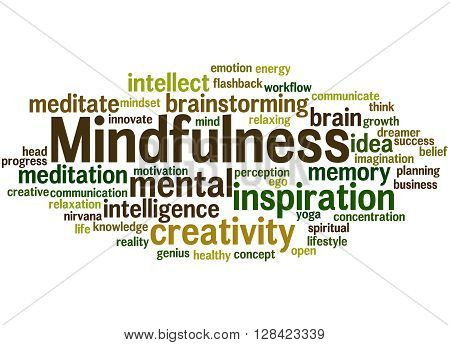 Mindfulness, Word Cloud Concept 3