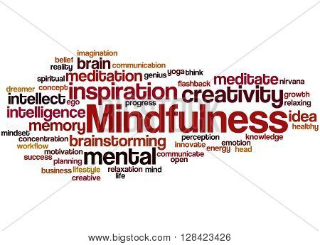 Mindfulness, Word Cloud Concept 9