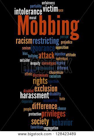 Mobbing, Word Cloud Concept 4