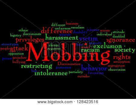 Mobbing, Word Cloud Concept 7