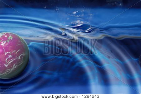 Planet Splashing In The Water (Water Ripples)