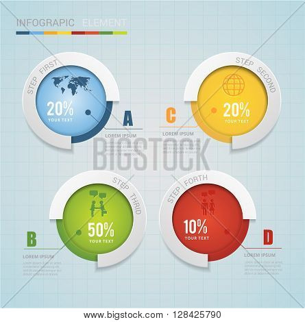 Abstract modern cirle chart infographic. Can uesd for presentation, data diagram and infographic business