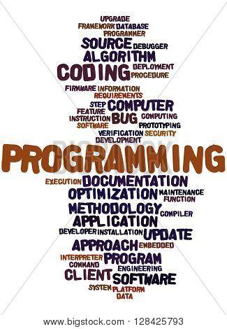 Programming, Word Cloud Concept 5