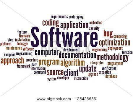 Software, Word Cloud Concept
