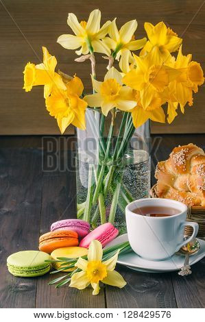 Relax Breakfast With Macaroons