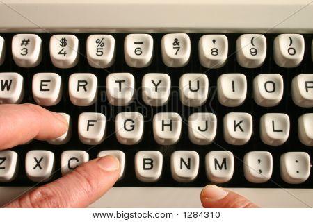 Typing On An Old Typewriter