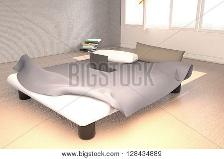 Bedroom With An Unmade Bed