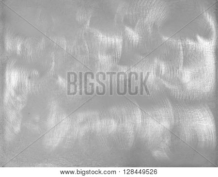 photo on bright metal plate studio with sanded texture