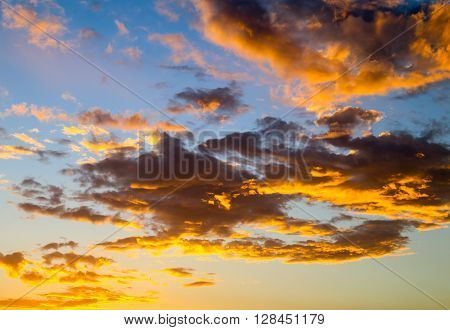Illuminated Sky And Clouds