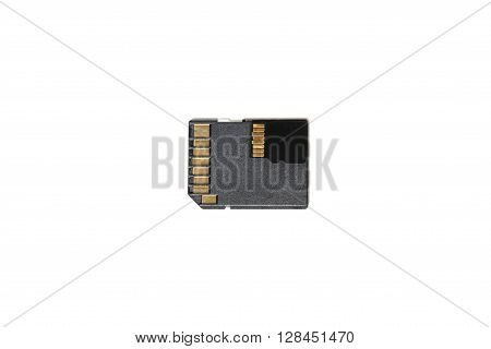 Stack of SD and micro SD memory cards isolated on white background