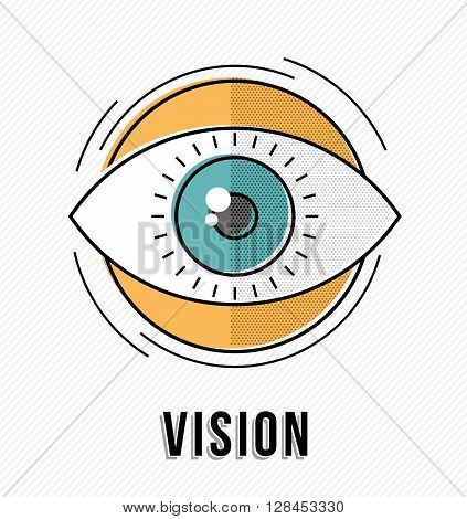 Vision Business Concept With Eye Illustration