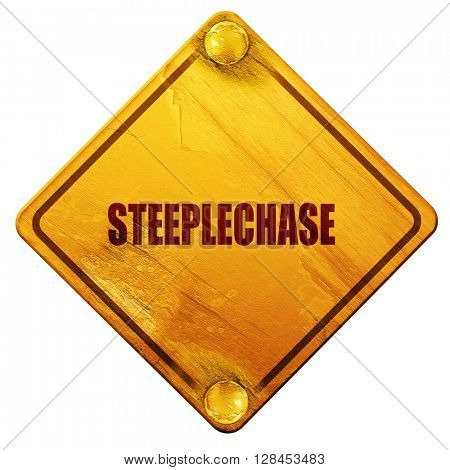 Steeplechase sign background, 3D rendering, isolated grunge yell